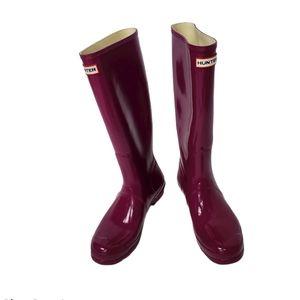 Hunter Original Tall Glossy Raspberry Boots